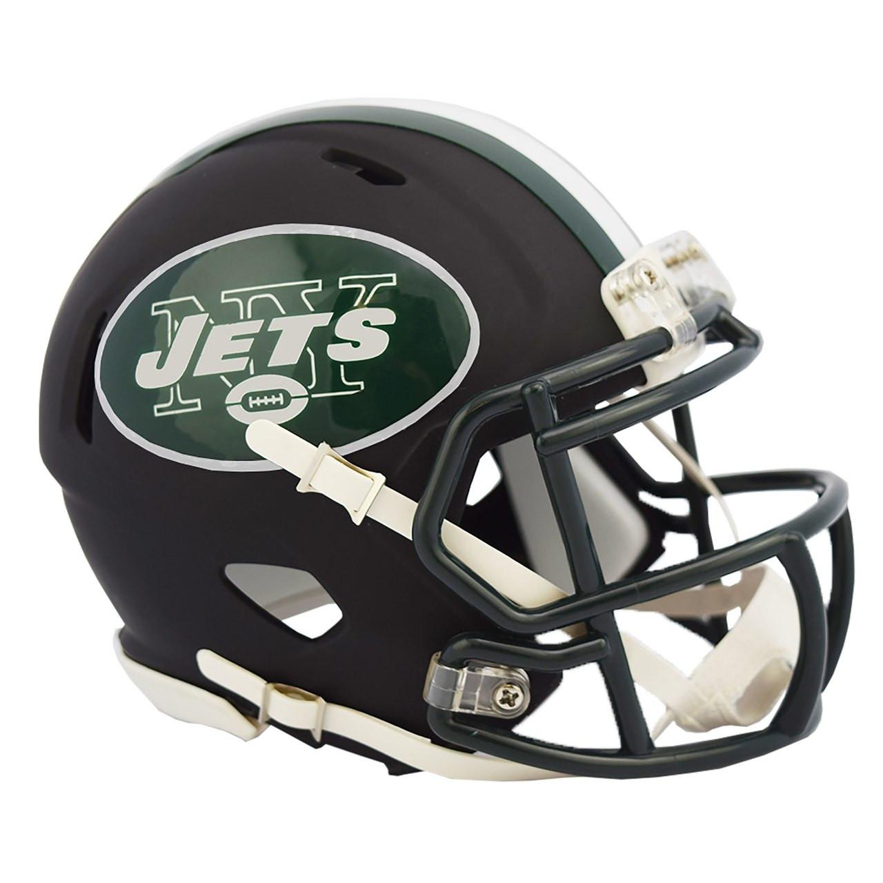 1e84e72aff0 Riddell New York Jets Black Matte Alternate Speed Mini Football ...