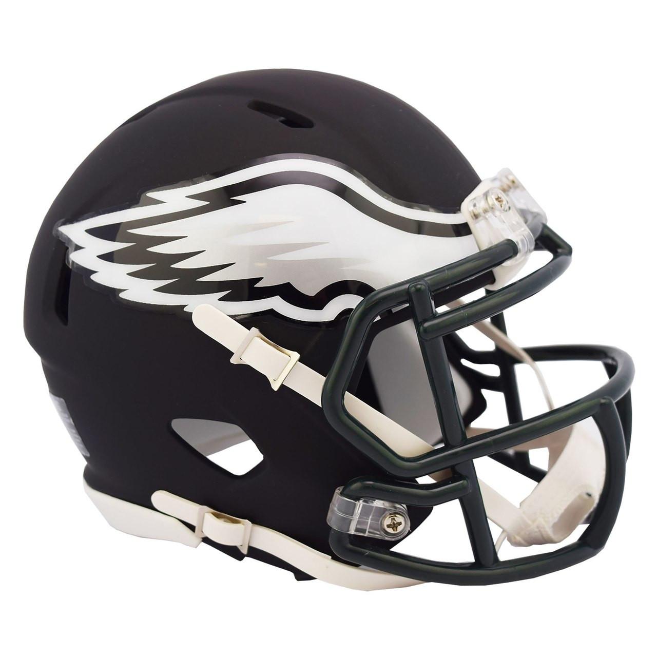 ee77cd9c60f Riddell Philadelphia Eagles Black Matte Alternate Speed Mini Football Helmet.  Riddell. Image 1