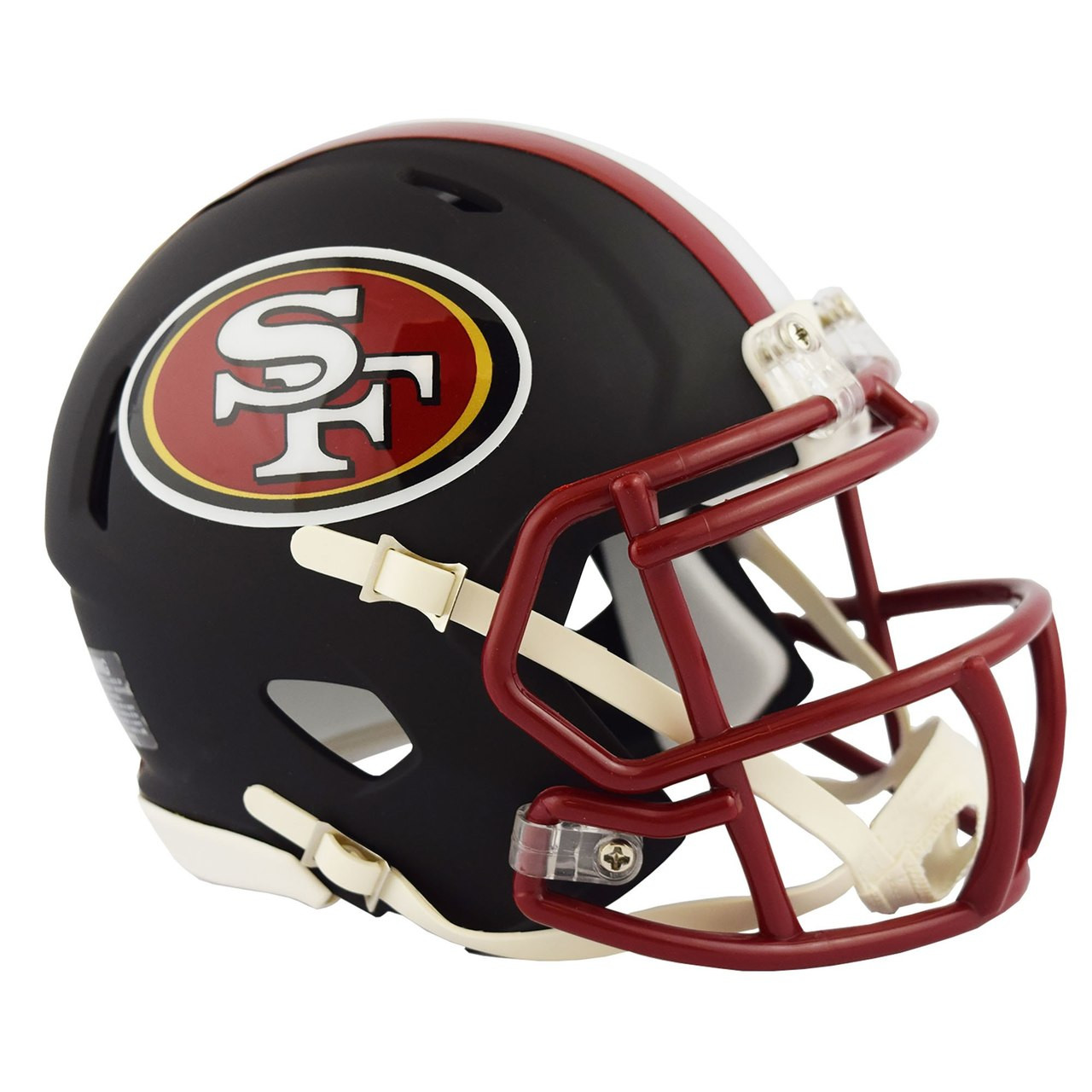f42d21c4 Riddell San Francisco 49ers Black Matte Alternate Speed Mini Football Helmet
