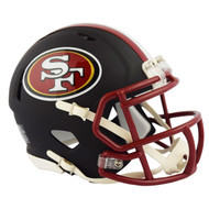 Riddell San Francisco 49ers Black Matte Alternate Speed Mini Football Helmet