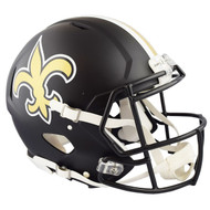 New Orleans Saints Black Matte Alternate Speed Replica Full Size Football Helmet