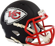 Kansas City Chiefs Black Matte Alternate Speed Replica Full Size Football Helmet