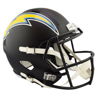 Los Angeles Chargers Black Matte Alternate Speed Replica Full Size Football Helmet