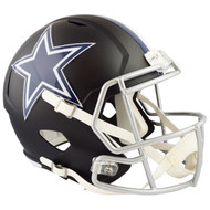 Dallas Cowboys Black Matte Alternate Speed Replica Full Size Football Helmet