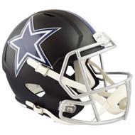 Dallas Cowboys Black Matte Alternate Speed Replica Full Size Football Helmet