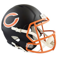 Chicago Bears Black Matte Alternate Speed Replica Full Size Football Helmet