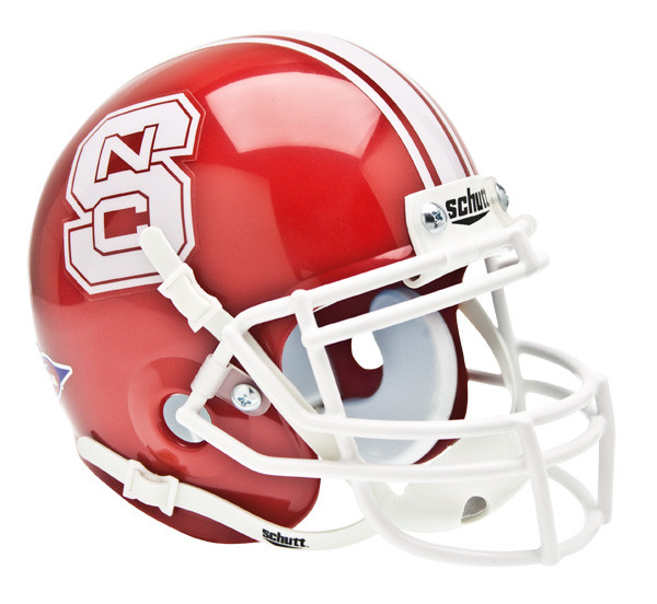 NC State Wolfpack White Tuffy Officially Licensed Speed Full Size Replica Football Helmet