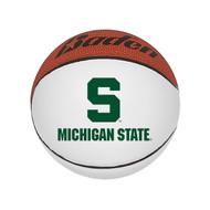 """Michigan State Spartans NCAA Mini Autograph Signature White Panel Basketball (Mini 5"""" Size)"""