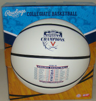 2019 NCAA Virginia Cavaliers Champions Full Size Commemorative Basketball with Full Schedule