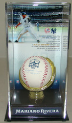 Autographed New York Yankees Mariano Rivera Signed 602 Saves Baseball in Hall of Fame Display 1683