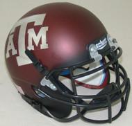 Texas A&M Aggies Alternate Chrome Schutt Mini Authentic Helmet