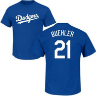 Walker Buehler Los Angeles Dodgers #21 Youth Name and Number Tee T-Shirt - Youth Sizes