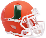 Miami Hurricanes AMP Alternate NCAA Riddell SPEED Mini Football Helmet