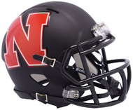 Nebraska Cornhuskers AMP Alternate NCAA Riddell SPEED Mini Football Helmet