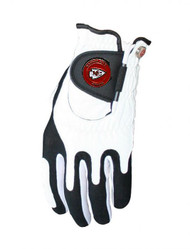 Zero Friction NFL Kansas City Chiefs White Golf Glove, Left Hand