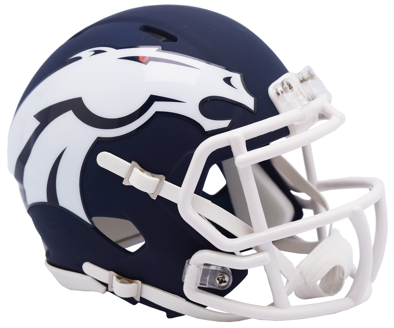 8c6b6e5f Riddell Denver Broncos AMP Alternate Speed Mini Football Helmet