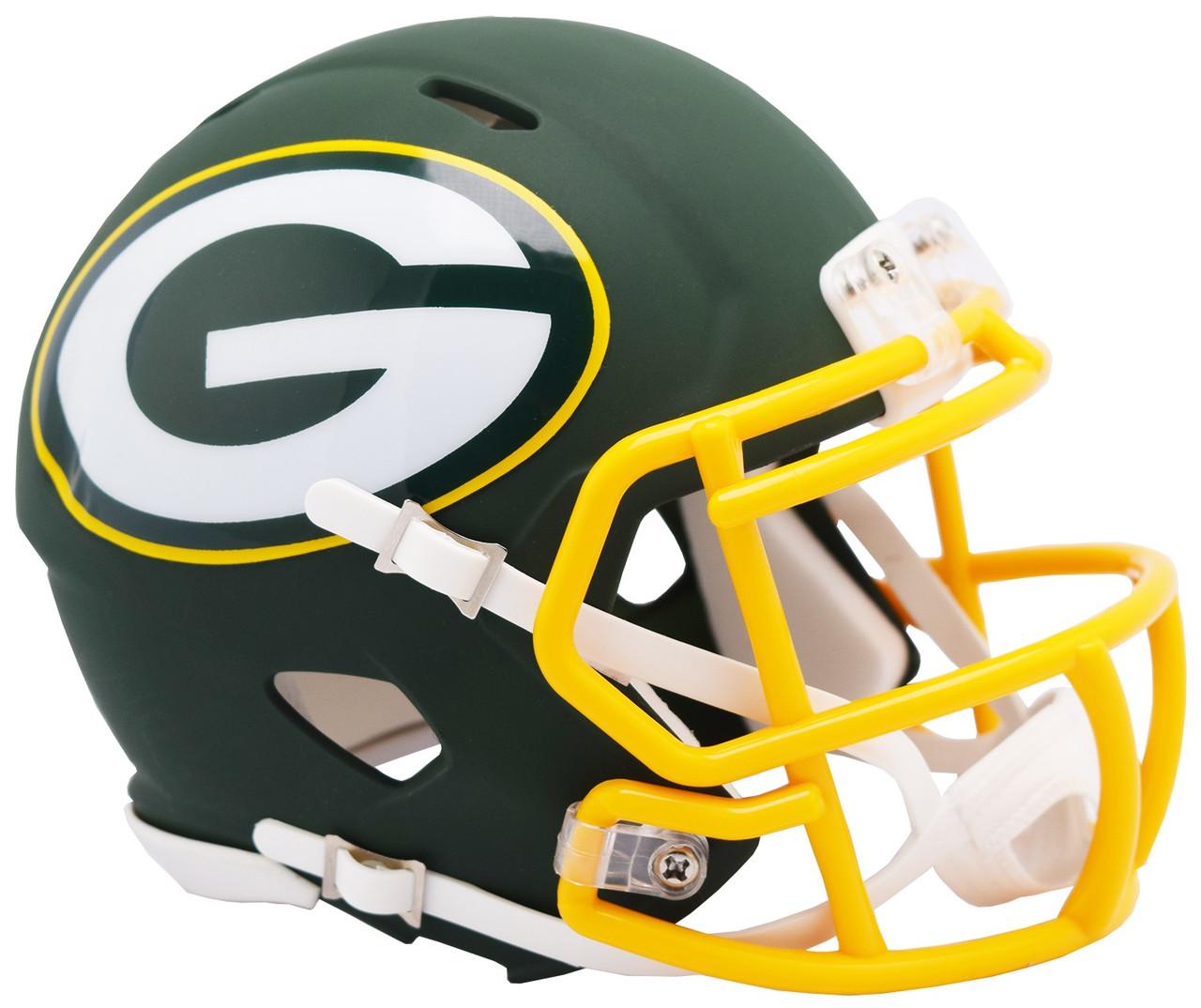 38fbb32a Riddell Green Bay Packers AMP Alternate Speed Mini Football Helmet