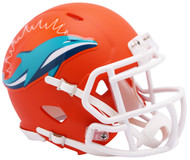 Riddell Miami Dolphins AMP Alternate Speed Mini Football Helmet
