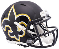 Riddell New Orleans Saints AMP Alternate Speed Mini Football Helmet