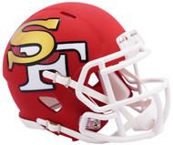 Riddell San Francisco 49ers AMP Alternate Speed Mini Football Helmet