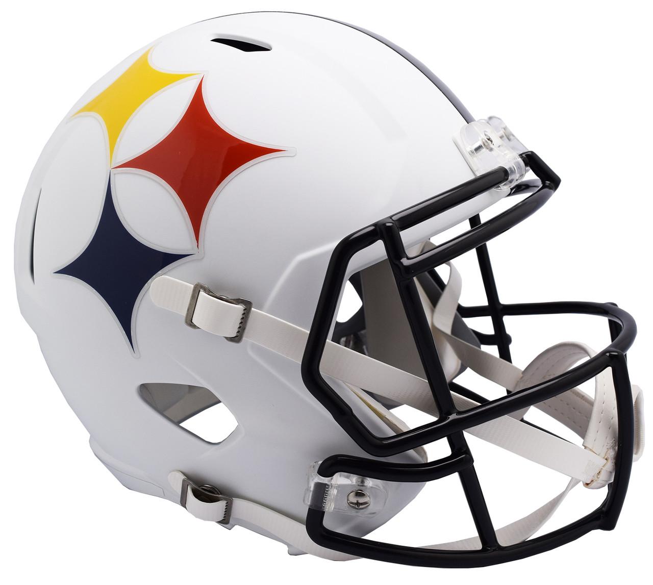 the best attitude 2c498 d3823 Pittsburgh Steelers AMP Alternate Speed Replica Full Size Football Helmet