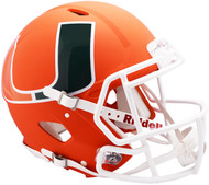 Miami Hurricanes AMP Alternate Speed Replica Full Size Football Helmet