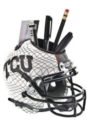 TCU Horned Frogs Alternate White AquaTech Mini Helmet Desk Caddy by Schutt