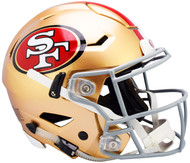 San Francisco 49ers NEW SpeedFlex Riddell Full Size Authentic Football Helmet - Speed Flex