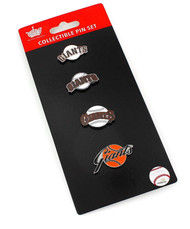 San Francisco Giants Logo MLB Baseball Evolution 4 Piece Lapel Pin Set