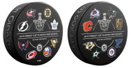 2019 NHL STANLEY CUP PLAYOFFS SOUVENIR PUCK with ALL 16 PARTICIPATING TEAMS