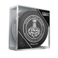 2019 Stanley Cup Finals Game 6 (Six) Boston Bruins vs. St. Louis Blues Official Game Hockey Puck Cubed
