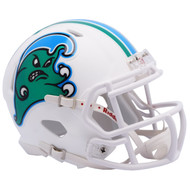 Tulane Green Wave - Angry Wave - NCAA Riddell SPEED Mini Football Helmet