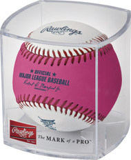 2019 MLB All-Star Game Rawlings Official Pink Home Run Derby Moneyball Baseball In Cube - Cleveland Indians