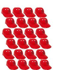 MLB Mini Batting Helmet Ice Cream Sundae/Snack Bowls, Angels - 24 Pack