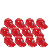 Washington Nationals MLB 8oz Snack Size / Ice Cream Mini Baseball Helmets - Quantity 12