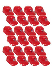 Washington Nationals MLB 8oz Snack Size / Ice Cream Mini Baseball Helmets - Quantity 24