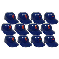 New York Mets MLB 8oz Snack Size / Ice Cream Mini Baseball Helmets - Quantity 12