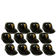 Pittsburgh Pirates MLB 8oz Snack Size / Ice Cream Mini Baseball Helmets - Quantity 12