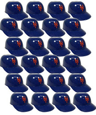 New York Mets MLB 8oz Snack Size / Ice Cream Mini Baseball Helmets - Quantity 24