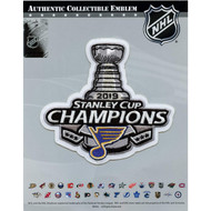2019 NHL Stanley Cup Final Champions St. Luis Blues Commemorative Collectors Jersey Patch