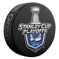 2019 NHL Stanley Cup Playoffs St. Louis Blues Team Lock-Up Souvenir Hockey Puck