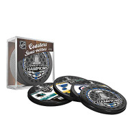 2019 NHL St. Louis Blues Stanley Cup Champions 4-Pack Puck Coaster Set