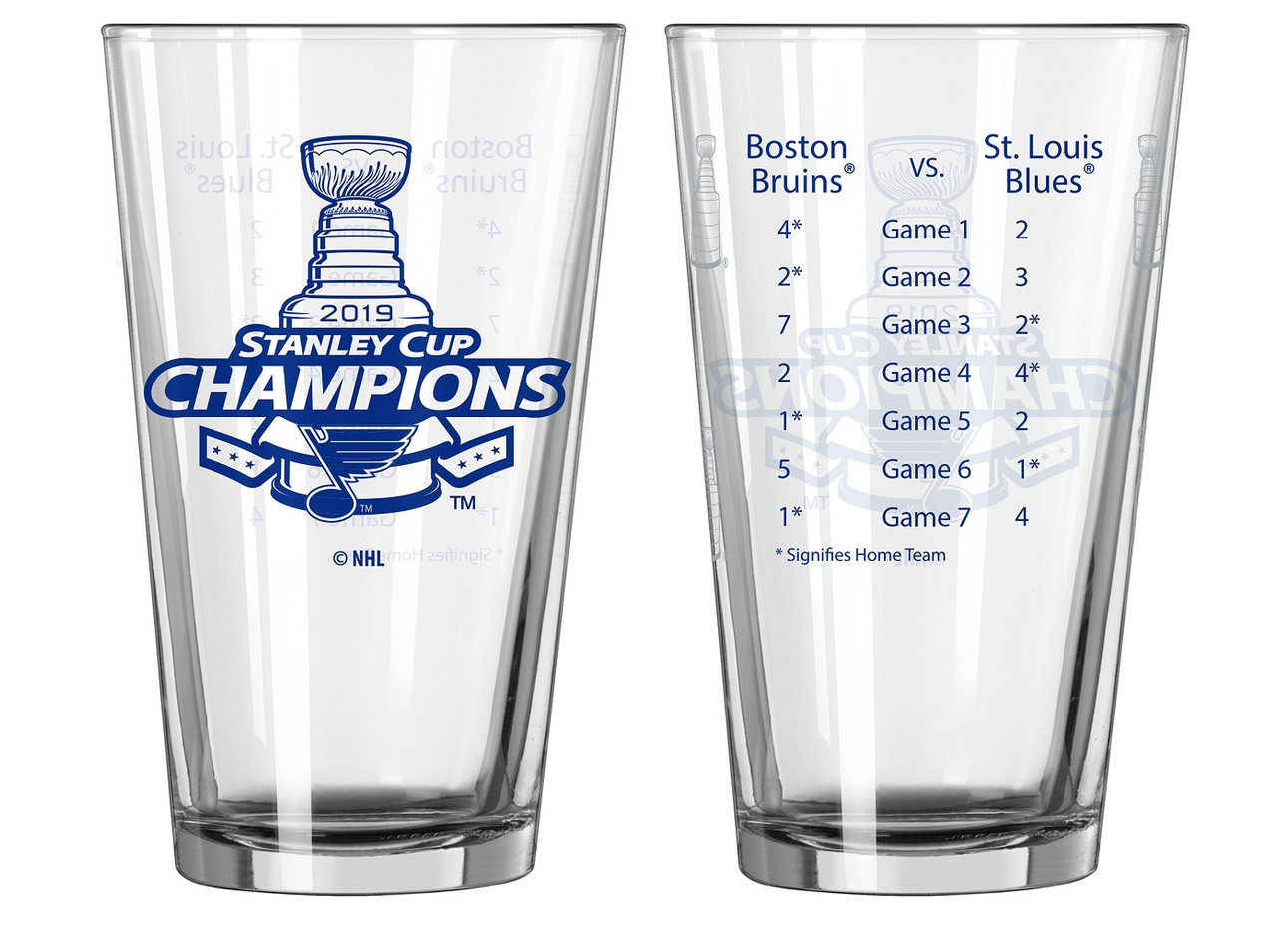 St Louis Blues Stanley Cup Champions Summary 16 Oz Pint Beer Glass
