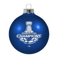 "St. Louis Blues 2019 Stanley Cup Champions 3 1/4"" Glass Ball Ornament"