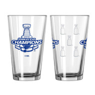 St. Louis Blues Stanley Cup Champions Official 16 oz. SATIN ETCH Pint Beer Glass
