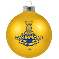 "St. Louis Blues 2019 Stanley Cup Champions Small 2 5/8"" Glass Ball Ornament"
