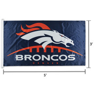 NFL Denver Broncos Logo Team Flag 3' x 5'