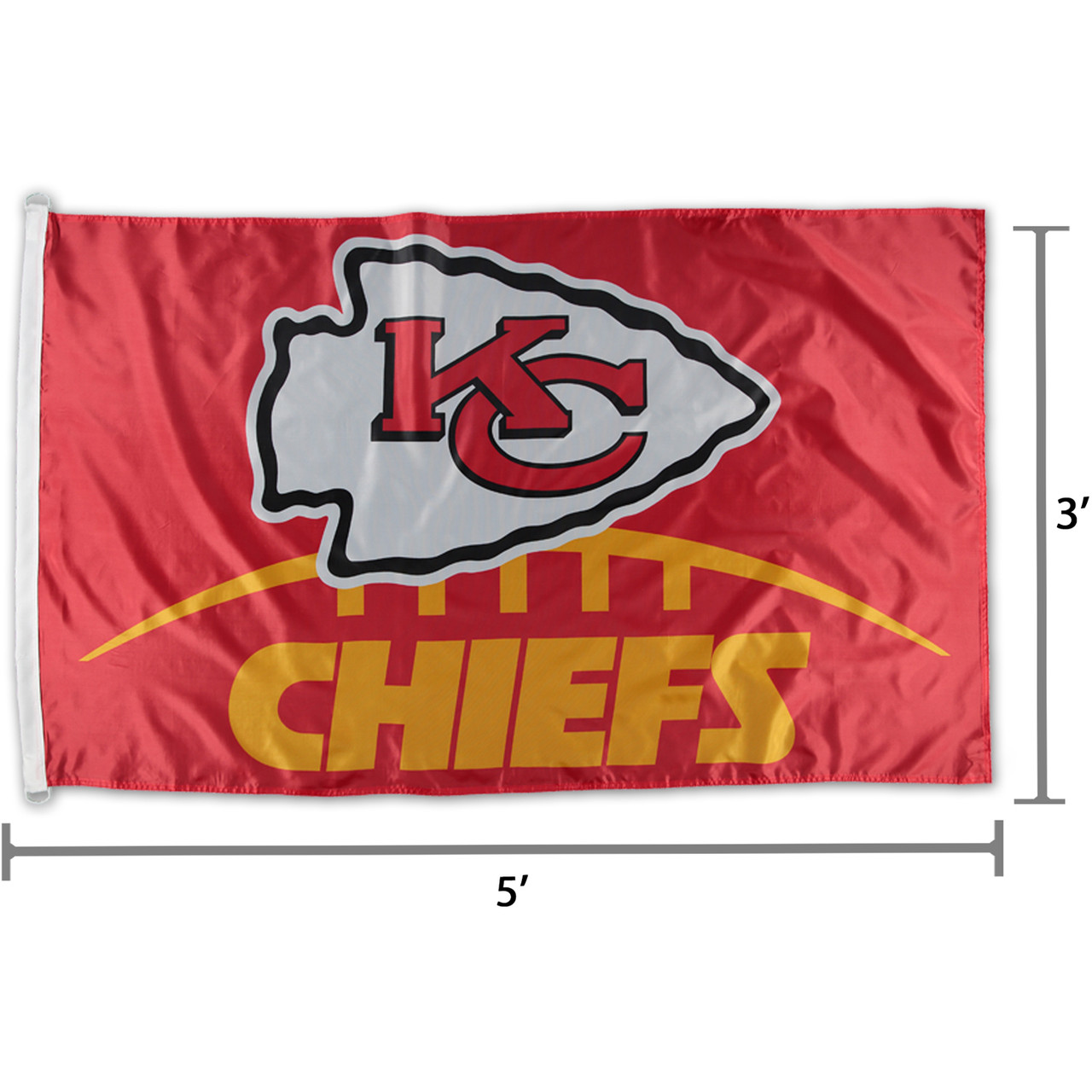 9c61ec75 NFL Kansas City Chiefs Logo Team Flag 3' x 5'