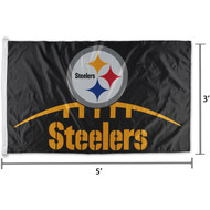NFL Pittsburgh Steelers Logo Team Flag 3' x 5'