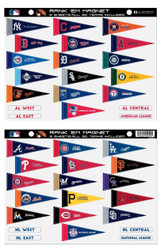 MLB Rank 'Em All 30 Teams Mini Pennant Magnet Standings Set Sheet